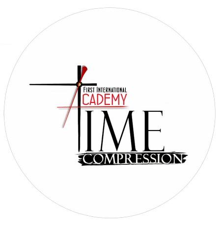 логотип компании Первая Международная Академия «Сжатие времени» /First International Academy «Time Compression»
